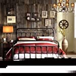 Queen Size Giselle Antique Dark Bronze Graceful Lines Victorian Iron Metal Bed