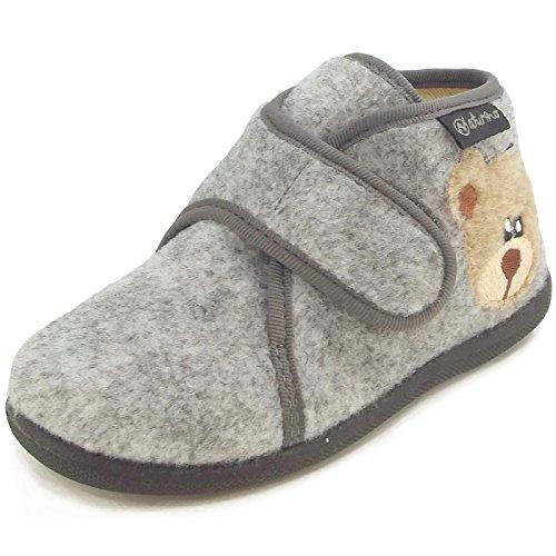 Naturino, Pantofole bambini, grigio (Grigio (Grigio)), 22