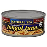 Natural Sea Tongal Tuna, Chunk Light, No Salt Added, 6-Ounce (Pack of 8)