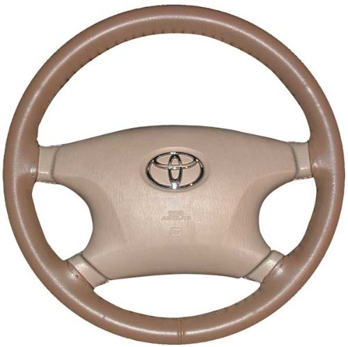 Wheelskins Toyota Genuine Leather Oak Steering Wheel Cover-Size AXX (Steering Wheel For Toyota Corolla compare prices)