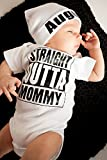 Baby Girl Boy Clothes Straight Outta Mommy Bodysuit Romper Jumpsuit Outfits (0-3 Months, White)