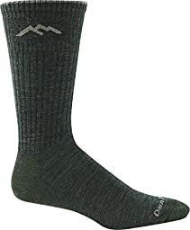 Darn Tough Vermont In-Town Series Men\'s Standard Issue Crew Socks Cushion, Olive, Small