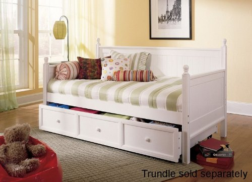 Ikea Daybed With Trundle Review ~ Wooden Daybed with Trundle Arched Panels in Brown Finish