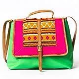 Desi Drama Queen (Kitch Sling) Women's Sling Bag -Green & Pink