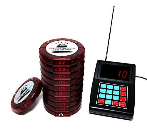 Pager Genius Usa 10 Digital Restaurant Coaster Red