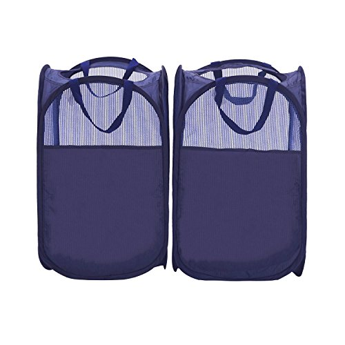 StorageManiac Foldable Pop-Up Mesh Hamper, Laundry Hamper with Reinforced Carry Handles, Pack of 2 (Laundry Hamper Portable compare prices)