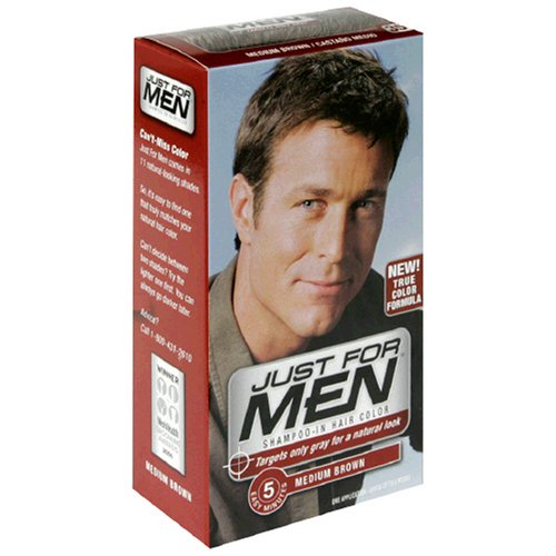 Just for Men Shampoo-In Hair Color, Medium Brown 35, 1 application, (Pack of 3)