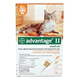 Bayer Advantage II Orange 6-Month Flea Control for Cats, 5 to 9-Pound