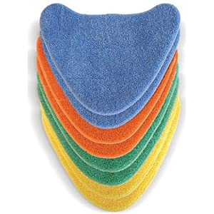 Vax Genuine Total Home 8x Velcro Microfibre Multi-Colour Cleaning Pads