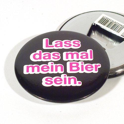 """Magnet Flaschenöffner-Button """"Lass das mal mein Bier sein"""""""