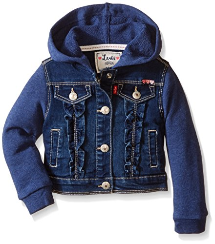 Levi's Baby-Girls Belle Denim French Terry Jacket, Thompson, 24