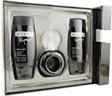 Bijan Black By Bijan For Men. Set Edt Spray 2.5 Ounce & Aftershave Balm 3.3 Ounce & Hair & Body Wash 3.3 Ounce