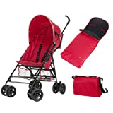Fisher Price Safe Voyage Buggy Bundle (Red, 6-36 Months)