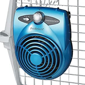 Deluxe Thermostatic Dog Crate Fan Amazon Co Uk Pet Supplies