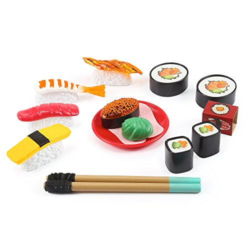Japanese Sushi Set Play Food (21 Pcs) by Kinder Toys