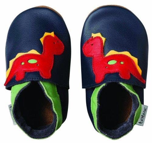 Bobux 460617 - Zapatos para bebé de cuero para bebé, Azul Marino, Large / 15-21 months