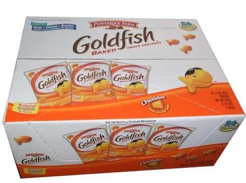 Pepperidge Farm Goldfish, Cheddar, 1.5-ounce bags (pack of 24)