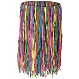 Beistle - 50452-MC - Extra Large Raffia Hula Skirt- Pack of 12