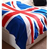 Twin Pack! Super Soft Classic Union Jack Fleece Throw/Blanket