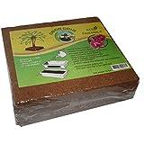 Compressed Coconut Coir Brick, 10 Pound (lb)-Green Texan Organic Farms