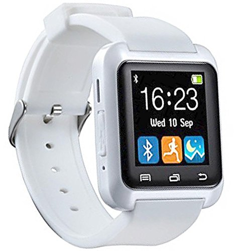 Twinbuys Bluetooth Smartwatch for Android Kids Smartphones Handsfree Sync Call Message Bluetooth Pedometer Fitness Tracker Sleep Monitor Smart Watches MODE 1 White