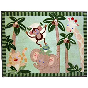 Rugs  Baby Room on Amazon Com  Jungle Babies Nursery Baby Bedding Rug  Baby