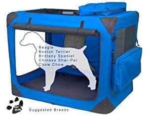 Pet Gear Generation II Deluxe Portable Soft Crate for Cats and Dogs up to 70-Pounds, Blue Sky