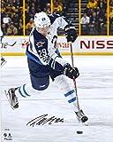 """Patrik Laine Winnipeg Jets Autographed 16"""" x 20"""" White Jersey Shooting Photograph - Fanatics Authentic Certified"""
