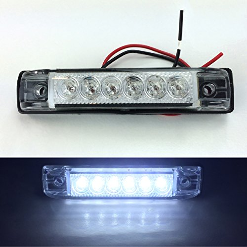 12 Volt Marine Lights: 2 LONG HAUL BRIGHT CLEAR/WHITE LED SLIM LINE LED 12V 12