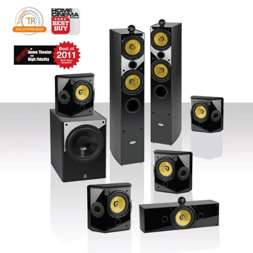 Crystal Acoustics T2-7.1-UL 7.1 THX speaker system with THX® Ultra2 Fronts and Subwoofer
