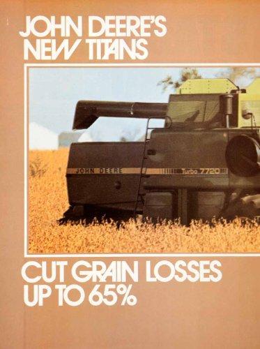 1979 Ad John Deere Turbo 7720 Titan Combine Farming Agriculture Machinery Crops - Original Print Ad