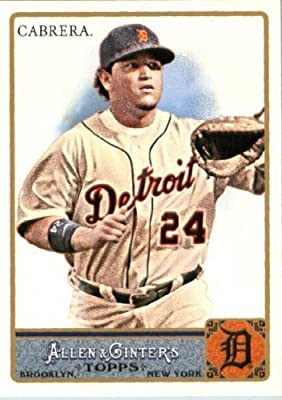 2011 Topps Allen and Ginter Baseball Card #10 Miguel Cabrera - Detroit Tigers - MLB Trading Card