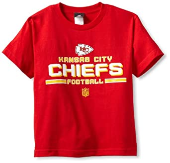 NFL Kansas City Chiefs Youth 8-20 Short Sleeve T-Shirt Toss T-Shirt, Large, Red