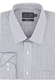 Cotton Rich Easy to Iron Twin Striped Shirt [T11-5036-S]