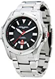Jorg Gray Solid Stainless Steel Bracelet Black Dial Men's watch #JG9100-21