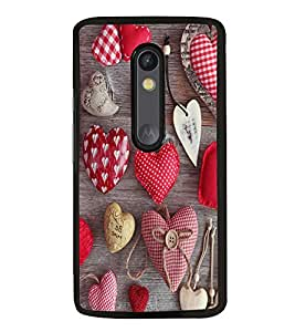 Fuson Premium 2D Back Case Cover Heart With Brown Background Degined For Motorola Moto G3::Motorola Moto G (3rd Gen)