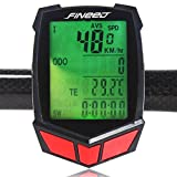 Bike Computer,Fineed Wireless Bicycle Speedometer,Waterproof Cycling Odometer Large LCD Screen Display Backlit Multi Functions Fineed