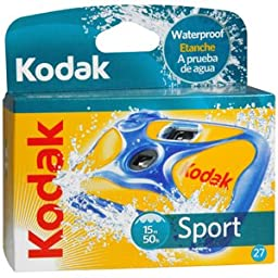 PACK OF 3 EACH KODAK CAMERA SPORT WATER 27 EX 1EA PT#4177800470