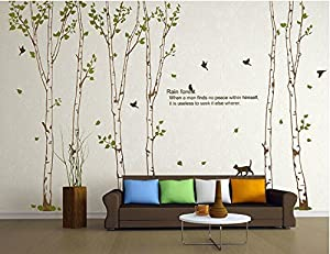 OneHouse Birch Tree Wall Sticker Nature Huge Tree Decal Nursery Room D¨¦cor by OneHouse