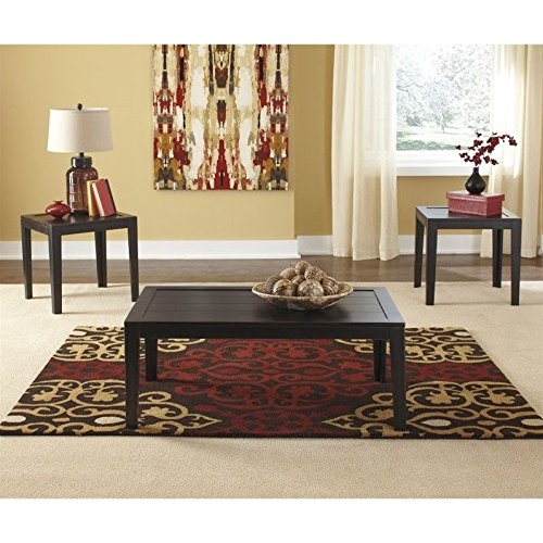 Signature Design by Ashley Birstrom 3 Piece Occasional Table Set, Black