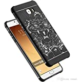 J 3D Dragon Style Soft Silicon TPU Shockproof Armor Back Case Cover For Samsung Galaxy C9 Pro / C 9 Pro Black