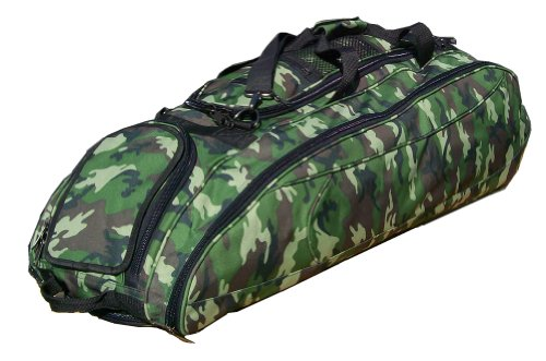 Green Camouflage Cobra Softball Baseball Bat Equipment Roller Bag