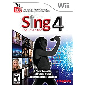 Sing4: The Hits Edition w/Microphone Video Game for Nintendo Wii