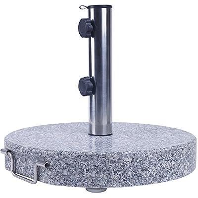 Sonnenschirmständer Granit 45 cm rund 30 kg Schirmständer