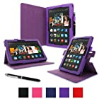rooCASE Amazon Kindle Fire HDX 8.9 Case - (2014 Current Generation) Dual View Multi Angle Tablet 8.9-Inch 8.9 Stand Cover - PURPLE