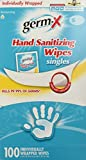 Germ-X Antibacterial Soft Hand Wipes Singles (100 Count Box)