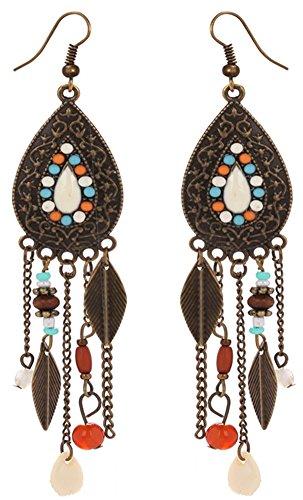 Eternity-J-Women-Vintage-Retro-Ethnic-Drop-Bohemian-Dangle-Earring-Lolita-Antique-Bead-Tassel-Earrings