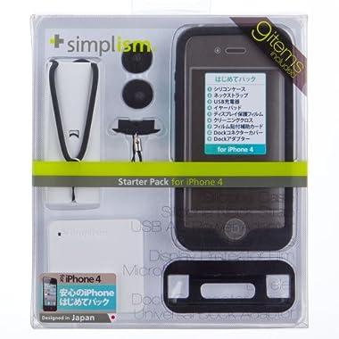 Simplism iPhone 4はじめてパック、必要なアイテム全部入り iPhone 4用スターターパック(ブラック) Starter Pack for iPhone 4 Black [TR-SPIP4-BK]