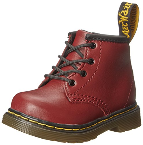 Dr. MartensBROOKLEE B Softy T CHERRY RED - Scarpe da Barca Unisex per bambini , Rosso (Red (cherry Red)), 36 2/3 EU