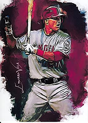 Mike Trout #15 - #16/25 - VERY RARE! - ALL-STAR - Los Angeles Angels - Limited Edition Original Artwork Sketch Card